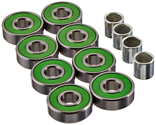 Sector 9 Cosmic Abec-7 Bearings with Spacers (Set of 8) (Longboard Bearing Spacers compare prices)