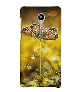 PrintVisa Butterfly Design 3D Hard Polycarbonate Designer Back Case Cover for Meizu MX5