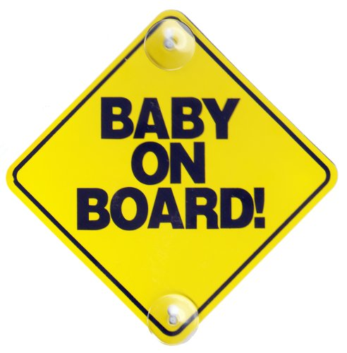 Baby On Board Sign Hard Plastic