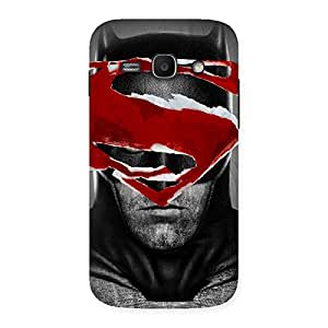 Stylish Black Red Forhead Back Case Cover for Galaxy Ace 3