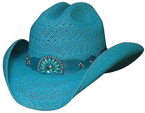 585a54e12c087 Bullhide Hats Women s Itchygoonie Blue Straw Cowboy Hat Large
