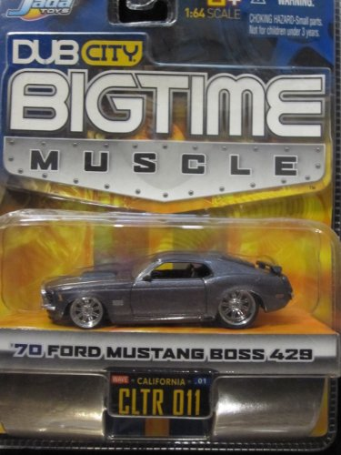 70 Ford Mustang Boss 429 (metallic gray) Dub City Bigtime Muscle By Jada - 1