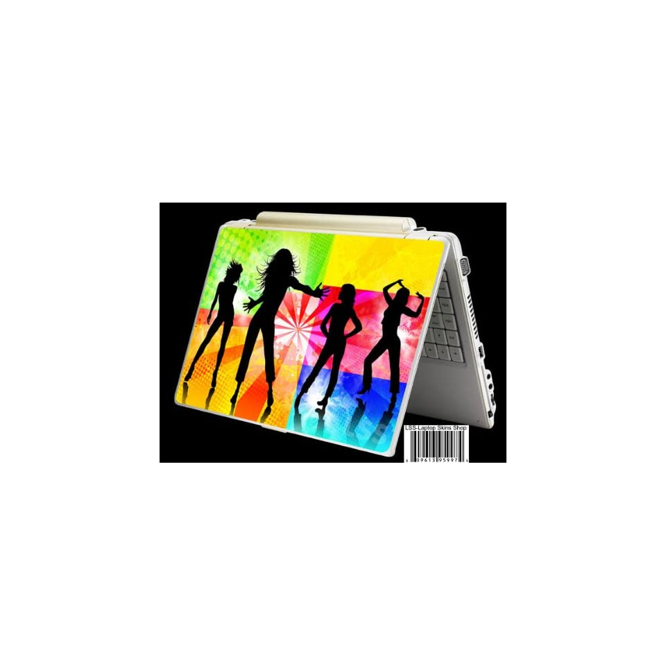 Laptop Skin Shop Laptop Notebook Skin Sticker Cover Art Decal Fits 13.3 14 15.6 16 HP Dell Lenovo Asus Compaq (Free 2 Wrist Pad Included) Dancing Girls