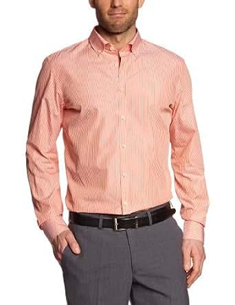 s.Oliver SELECTION Herren Businesshemd Slim Fit 12.304.21.4106, Gr. 38, Orange (23G1)