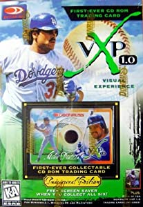 Mike Piazza CD Rom trading card baseball card (Los Angeles Dodgers) 1997 Donruss VXP... by Hall of Fame Memorabilia