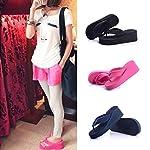 HuntGold Peach Womens Thong Flip Flop High Platform Wedge Heel Sandals 5CM Hard(Size: 6)