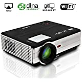 EUG Wireless Home Theater Projector 3500 Lumens LED Entertainment Support HD 1080p 720p Movie Video Games Outdoor...
