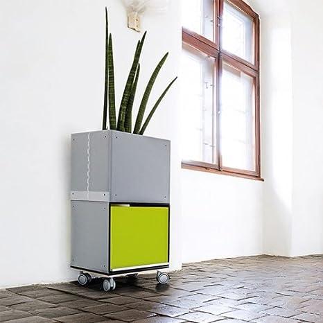 gube Roll Contenedor para plantas, 37x 37x 74cm, Negro de color negro