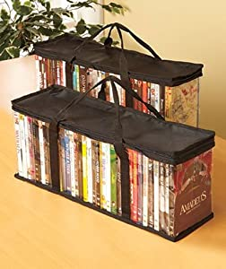 DVD/CD COMBINATION STORAGE BAGS- 2 CD's Hold 100 Disc And 2 DVD'S Hold 80 Disc For a Total of 180 Disc