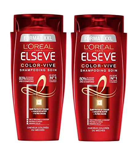 Elvive Color-Vive L'Oréal Paris Shampoo Capelli colorati formato 700ml XXL - Lotto di 2