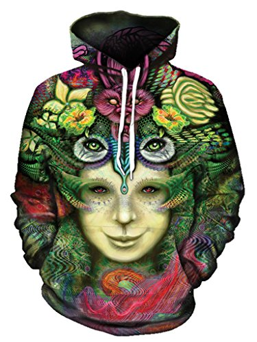 Gratefully Dyed Blossoming Mind Hoodie – Premium All Over Print Graphics – Large