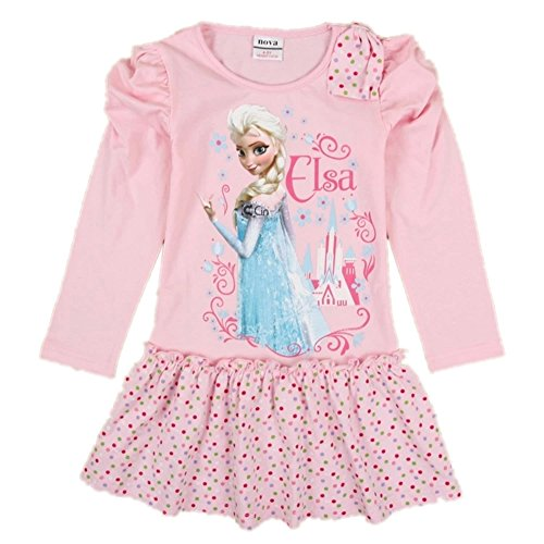 Frozen Dress Princess Anna and Elsa Cartoon Dress Party Evening,2-6y