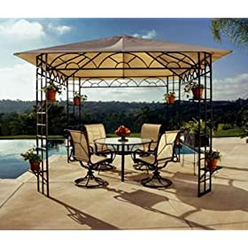 DC America Replacement Canopy/Gazebo Two-Tier Top, 10' x 10