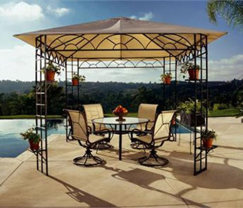 Martha.Stewart.Gazebo.Canopy.Replacement.12X12,.Gazebo.Canopy.Hexagon