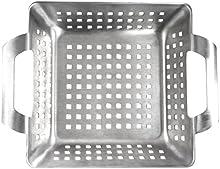 Comprar Ultranatura 200100001071 - Cesta para barbacoa de acero inoxidable / bandeja para verduras con mangos - 15 x 15 x 5.5 cm