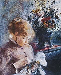 Pierre auguste renoir la couseuse impression d 39 art print for Renoir maison classique