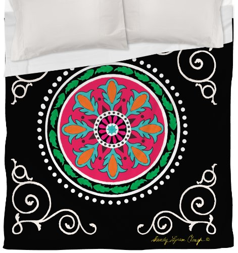 Thumbprintz Duvet Cover, Twin, Black Boho Medallion front-484538