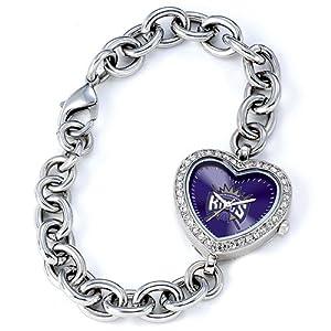Ladies NBA Sacramento Kings Heart Watch by Jewelry Adviser Nba Watches