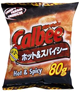 Calbee Potato Chips Hot Spicy 28-ounce Units Pack Of 12 by Calbee