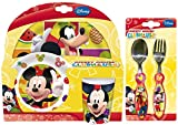 Mickey Mouse Clubhouse 5-Piece Dinner Set | Mealtime | Dinnerware | Disney