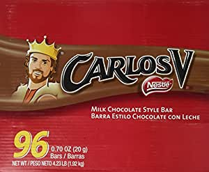 Carlos V Chocolate, 96 count