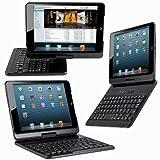 【JUVENA】iPad mini/ iPad mini Retina 専用Bluetoothワイヤレスキーボード PCカバー 360度回転可能