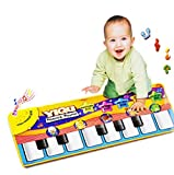 Sannysis® Mini Teclado Electrónico Nuevo teclado táctil Musical Mat para Niños Bebé