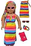 Beach Dress 4 Piece Set!! Fits 18″ Am…
