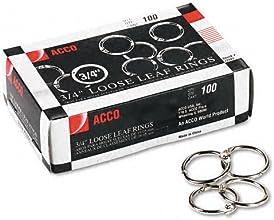 ACCO  Metal Book Rings 34quot Diameter 100 Rings per Box - Sold as 2 Packs of - 100 -  - Total of 20