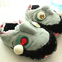 Zombie Floor Shoes Indoor Skid Slippers Halloween Toys by DizHome