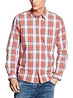 Tom Tailor Camisa Hombre (Naranja)