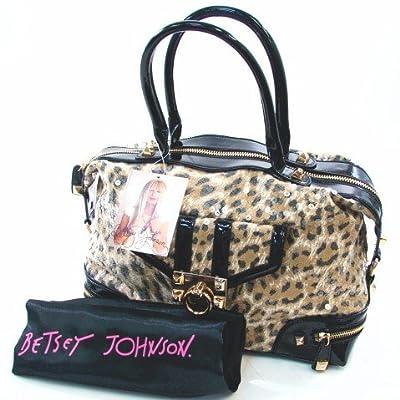 Betsey Johnson Gold Lady Jungle Satchel Handbag Bag [Apparel