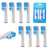 8pcs Soft Bristle Replacement Electric Toothbrush Double Heads 1 package.