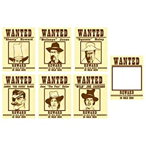 Click to buy Rodeo Cowboy Wanted Posters (6)from Amazon!