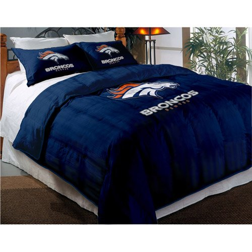 Denver Broncos Comforter Set: Twin Comforter with Shams