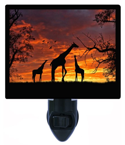 Giraffes At Sunset Night Light - Africa - Giraffe Led Night Light front-1059698