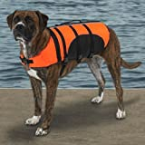 Guardian Gear Aquatic Pet Preserver - Life Jacket for Dogs - Orange - Large