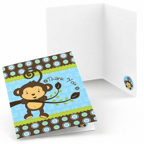 Monkey Boy Thank You Cards (8 count)