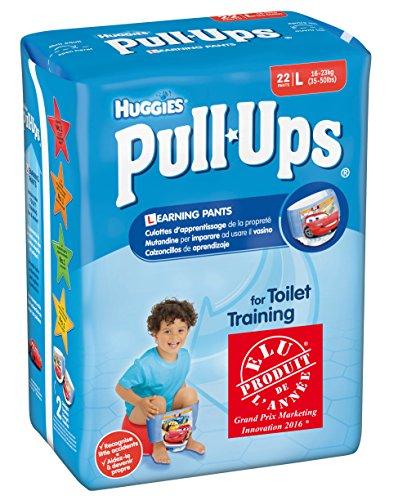 Huggies Pull-Ups - Mutandine di apprendimento per bambino, Taglia 6/L, 2 confezioni da 22 pz.