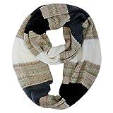 Luxury Divas Multicolor Stripe Knit Circle Scarf