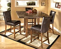 Hot Sale Lacey Square Counter Height Dinette Set