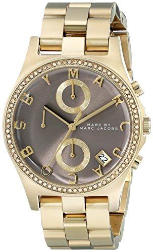Marc by Marc Jacobs Women's MBM3298 Henry Gold-Tone Stainless Steel Watch with Link Bracelet