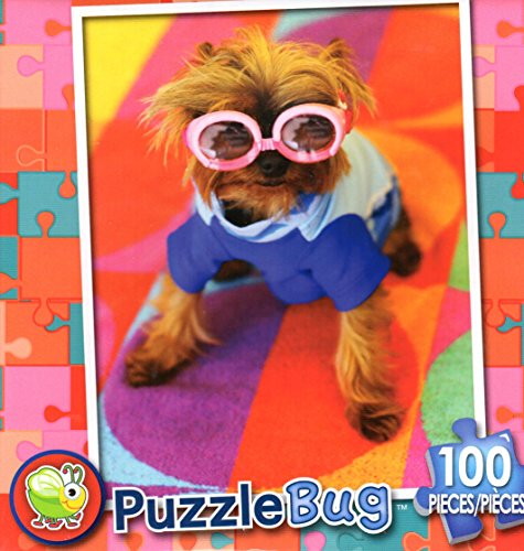 Summer Pooch - Puzzlebug 100 Pc Jigsaw Puzzle + Free Bonus 2015 Magnetic Calendar - 1
