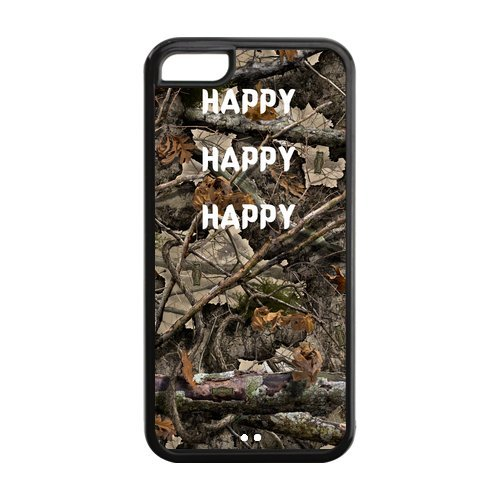Personalized Camouflage Camo Tree Apple Iphone 5C Case Cover Tpu Duck Dynasty Quotes