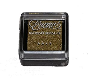 Tsukineko Metallic Encore Mini Ink Pad - Gold