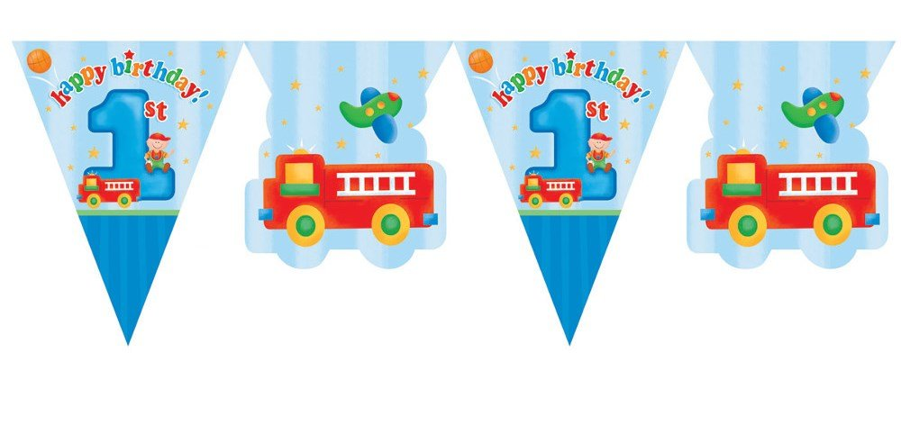 Fun At One Boys Happy First Birthday Party Supplies