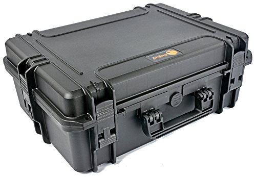Elephant Elite EL1907 Case with Foam for large D-slr Cameras with lenses, audio and Video Equipment, Guns, Waterproof Hard Plastic Case
