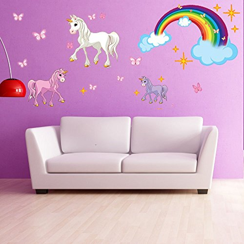 Unicorn-Set-Wall-Decal-by-Style-Apply-highest-quality-wall-print-decal-sticker-mural-vinyl-art-home-decor-DS-886