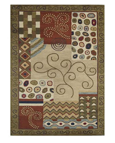 Mili Designs NYC Patchwork Vine Tufted Modern Rug, 5′ x 8′
