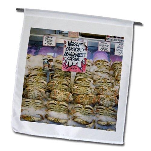Danita Delimont - Markets - Washington, Seattle, Pike Place Market crab - US48 CSL0051 - Charles Sleicher - 18 x 27 inch Garden Flag (fl_95284_2)